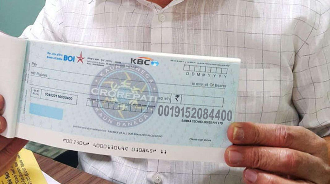 kbc lottery winner 2020 cheque
